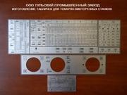 Комплекты табличек для токарных станков 16к20,  16в20,  16к25,  1м63 изго