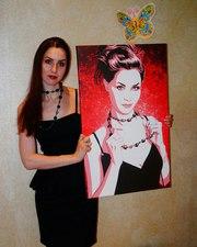 Портрет с элементами поп-арта по фото