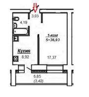 Срочная Продажа 1-комнатной квартиры