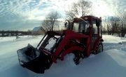 Уборка снега мини-трактором
