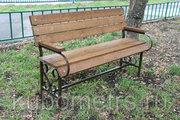 Садовые скамейки из дерева со спинкой и без
